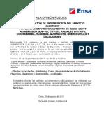 Comunicado Querocoto Huambos 2017- Agosto20II