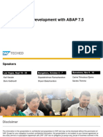 DEV210-Overview of Development with ABAP 7.5