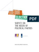 Survey on the needs of Political Parties, 2016