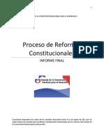 Informe Final Proceso de Consultas Reformas Constitucionales 2011