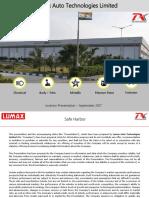 Lumax Auto Q1 FY18 Presentation