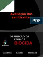 Avalia__o dos sanitizantes.ppt