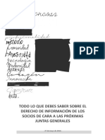 Derecho de Informacion de Los Socios y Accionistas y La Impugnacion de Acuerdos