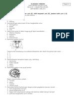 Soal Ulangan Harian 1 IPA Paket A