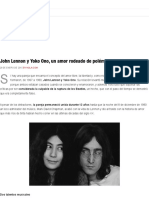 John Lennon y Yoko Ono, un amor rodeado de polémica y excentricidades