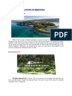 Tourist Destination in Mindanao