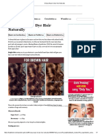 3Easy Ways toDye Hair Naturally