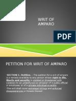 Writ of Amparo May2017