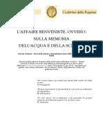 Roberto Germano_ L'Affaire Benveniste. Ovvero_ Sulla Memoria Dell'Aqua..