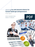 Bankruptcy and Second Chance for Honest Bankrupt Entrepreneurs FINAL REPORT