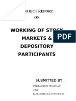 working of stock market and depository services