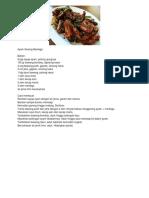 Resep Masakan 1