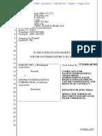 Oakley Inc. v. Lipopsun Int'l - Complaint
