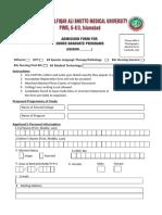 2016 Undergraduate Admissions Form