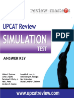 Review Masters - Simulated UPCAT 2011 Answer Key