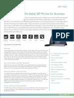 "Yealink SIP-T42S Ultra Elegant Gigabit IP Phone with 2.7"" LCD and POE Datasheet"