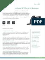 "Yealink SIP-T42G Ultra Elegant Gigabit IP Phone with 2.7"" LCD and POE Datasheet"