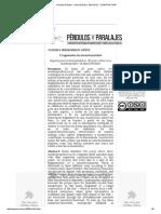 Revista El Arbol - Sexta Edición, Abril 2012 - Gran Vidrio. Fragmentacion