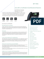 "Yealink SIP-T46G Ultra Elegant Gigabit IP Phone with 4.3"" LCD and POE Datasheet"