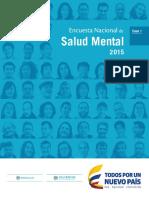 Encuesta Nacional de Salud Mental 2015
