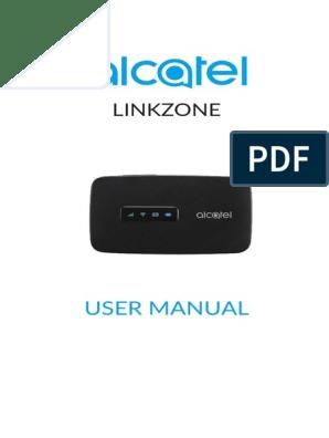 Alcatel LINKZONE_User Manual   Wi Fi   Usb