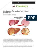 21 Natural Remedies for 3 Liver Diseases