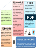 A Level Science Challenge