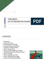 Theories of Entrepreneurship 160624062036
