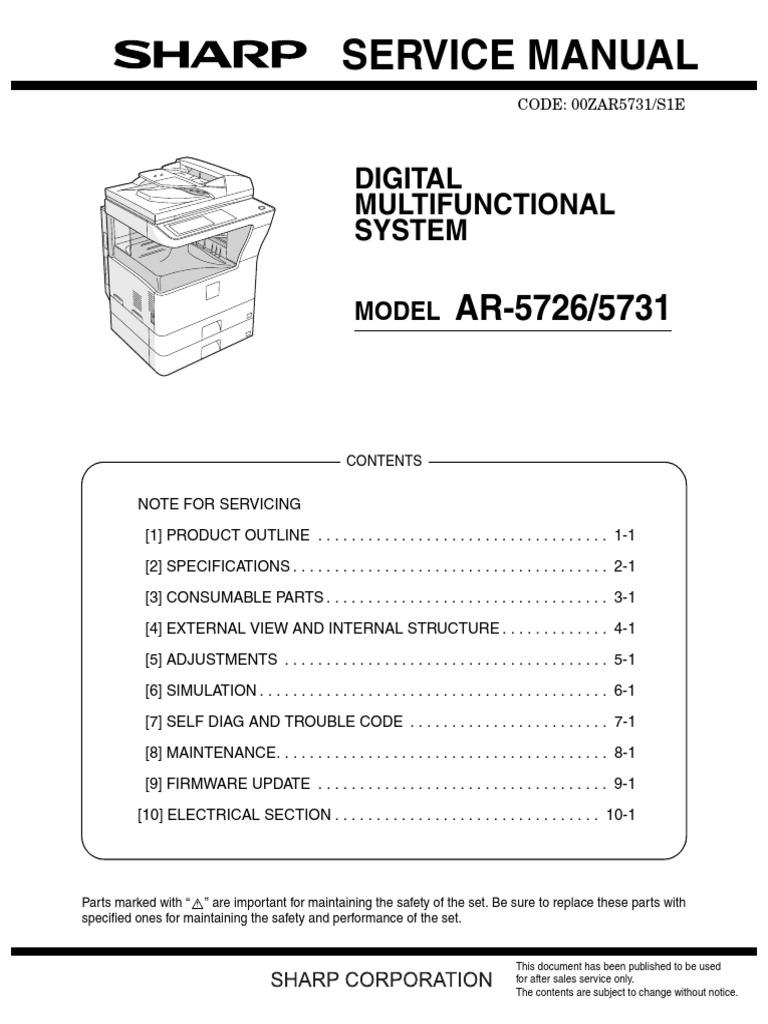 Sharp_AR-5726_AR-5731_SM_PC | Electrical Connector | Equipment