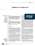 Materiales Hemostáticos en Cirugía Oral