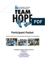 Team Hope Walk Participant Packet