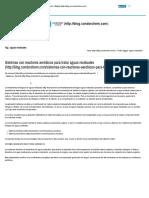 Sistemas Con Reactores Aerobicos Para Tratar Aguas Residuales-CONDORCHEM