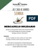 Mercadillo Solidario Cartel PDF