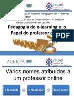 Pedagogia do e-Learning e o papel do professor