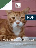 NTU Cat Management Network Annual General Report for Academic Year 2016/2017