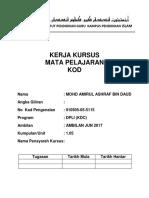 cover KERJA KURSUS  NEW.docx
