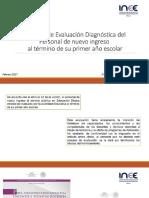 Informe sobre evaluación diagnóstica