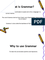 Speeches of English Grammar
