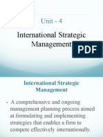 4 International Strategic Management A