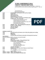 AliveConf2016 Schedule