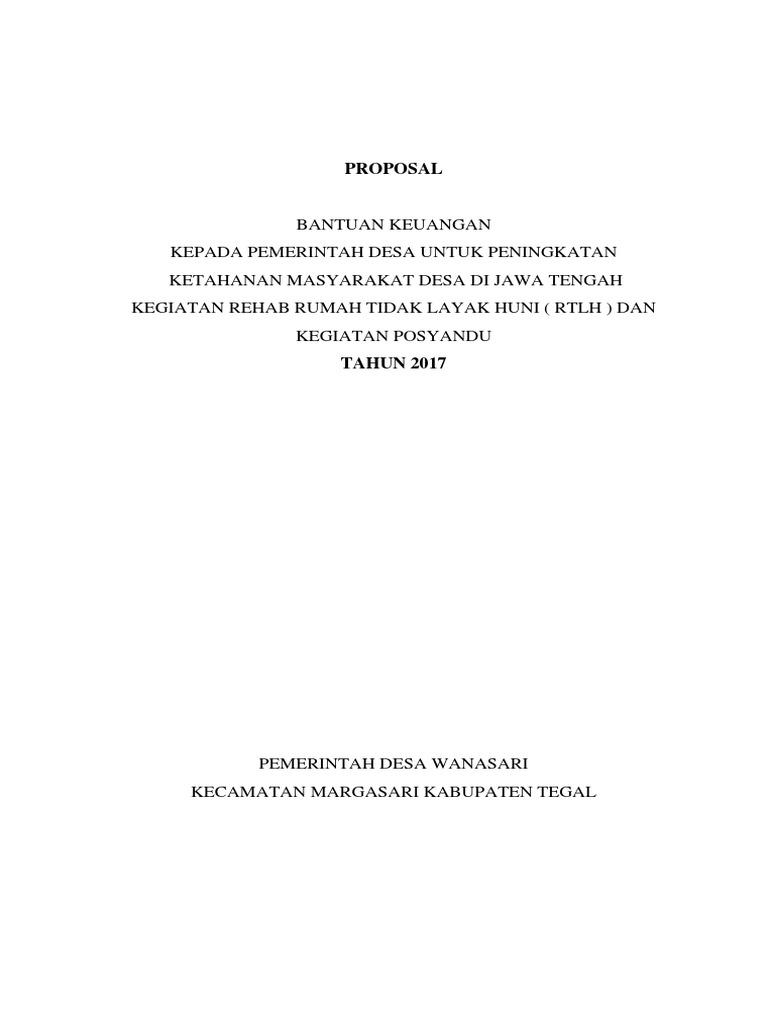 Proposal Bankeu 2017