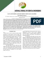 Data Encoding and Decoding Using Data Matrix