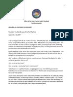 Toni Preckwinkle City Club Remarks as Prepared September 13, 2017