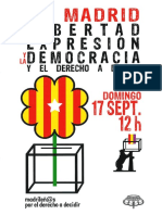 Manifiesto de La Plataforma Madrileños Por El Derecho a Decidir