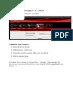 Firmware Upgrade Procedure - DSL5005EN