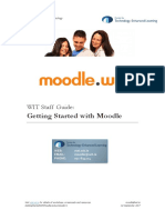 WIT - Getting Started With Moodle Lecturer Guide 3.1