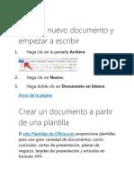 Abrir Un Nuevo Documento y Empezar a Escribir