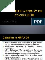 Cambios a Nfpa 25 en Edicion 2010
