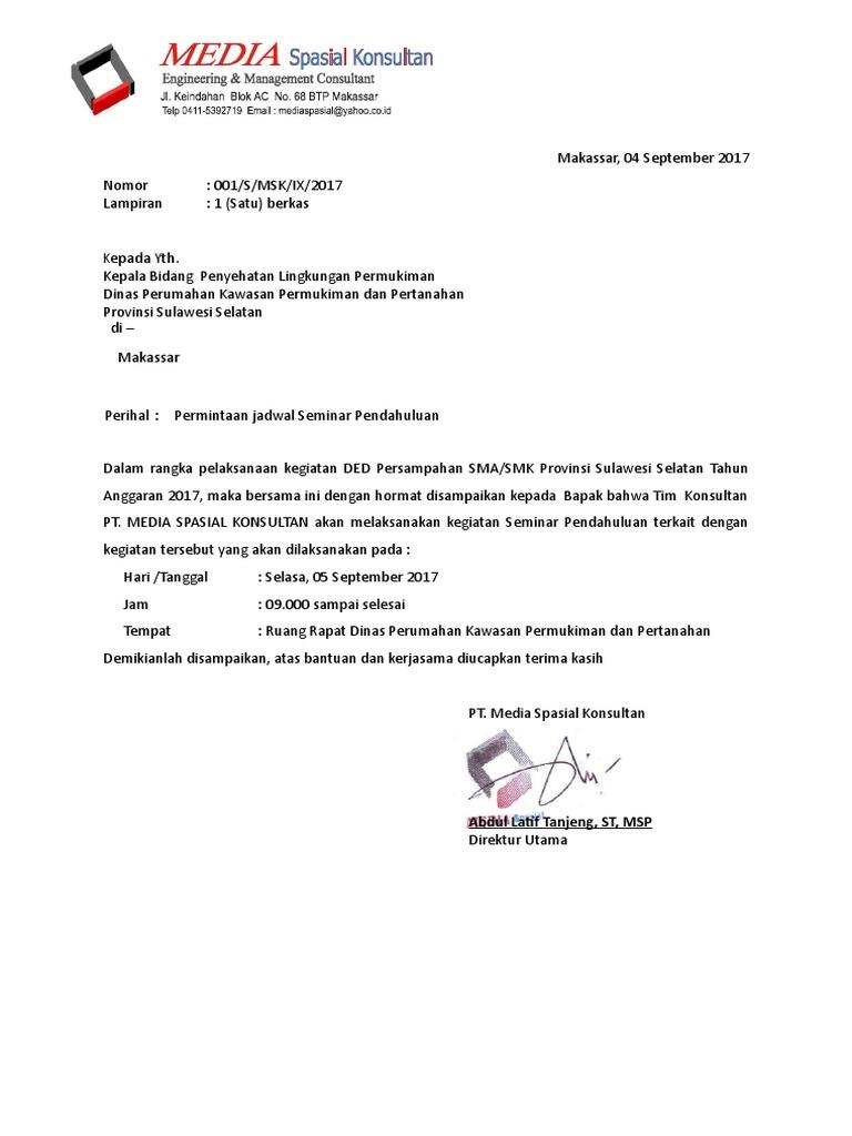 Contoh Surat Permintaan Seminar
