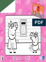 Peppa Pig Valentines Colouring Sheet v1